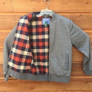 NWT LL Bean Jacket S Sweat Jacket Flannel Lined